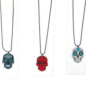 ♛5/$25♛ NWT Sugar Skull Necklace Punk Jewelry Goth